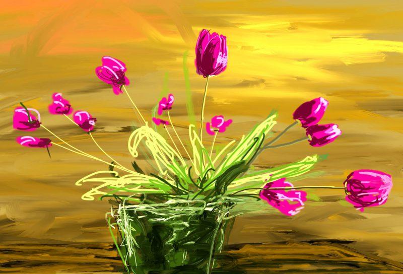 Bouquet met tulpen